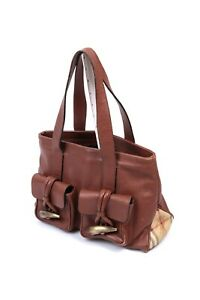 BURBERRY Women's Brown Leather Toggle Handbag