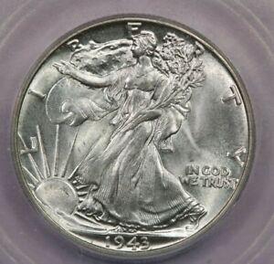 1943-P 1943 Walking Liberty Half Dollar ICG MS67 beautiful flashy coin!