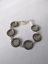 2pcs Argent Antique Bracelet Avec 14 mm plateau fabrication de bijoux Craft UK