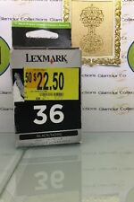 GENUINE Lexmark 36 BLACK Print Cartridge FACTORY SEALED (O2)