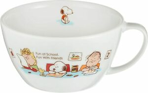 Snoopy Happy Light Soup Cup 300ml 607115 For Children Porcelain MADE IN JAPAN