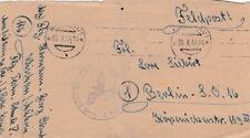 ENVELOPPE COURRIER MILITAIRE AVEC TAMPON DE LETTRE DE 1944 (agf2055)