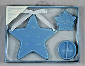 Stepping Stones - C. R. Gibson - Ceramic Set - Plaque and Trinket Box