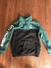 VANS Victory 1/4 Zip Pullover Green/Black Youth SZ Small. Excellent Condition