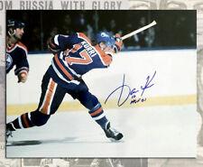 Jari Kurri Edmonton Oilers Autographed 11x14 with HOF 2001 Inscription