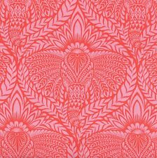 DEITY Elephant Retro Fabric FQ Tula Pink EDEN Indian ORCHID Damask Style PINK