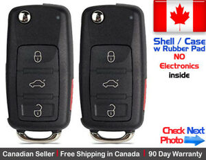 2 New Replacement Remote Key Fob Flip Case For AUDI Volkswagen - Shell Only