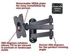 """RV Camper Articulating Arm TV LCD Monitor Wall Mount up to 27"""" Detachable Plate"""