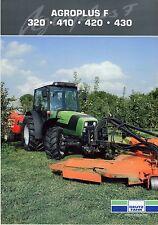 Deutz Fahr Agroplus F Series 06 2011 catalogue brochure tracteur Traktor tractor