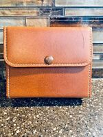 Vintage Mens Travel Toiletry Grooming Kit Case Cowhide Leather Zip Case