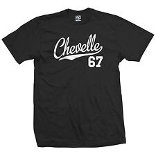 Chevelle 67 Script Tail Shirt - 1967 Classic Muscle Race Car - All Size & Colors