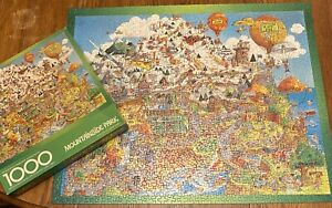 Vtg Mountainside Park Springbok Jigsaw Puzzle 1000 Complete 1979 Bob Martin