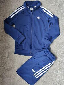 Adidas Boys Girls Kids Blue Stripe Tracksuit Nylon Soft Cost £39⁹⁹ FREE SHORTS!!
