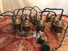 Metal Copper Lantern String Lights Set Of 10 Indoor Outdoor