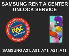 Samsung Rent A Center Unlock Service, Samsung A11, A21, A31, A51, A71, 5G