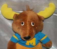 """Vintage 1980s 1984 TOMY Plush 14"""" GET ALONG GANG Brown MONTGOMERY MOOSE w/Outfit"""