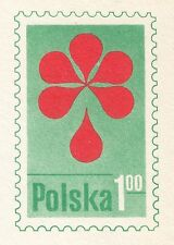 POLAND 1975 mint Postcard Cp#646 Honorary Blood Donor - Red Cross.