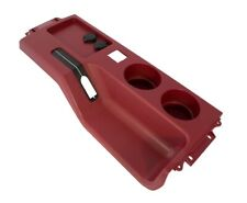 1987-1993 Ford Mustang Center Console w/ Cup Holders & Usb Charger - Scarlet Red