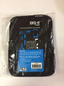 "Cocoon Grid-IT! Accessory Organizer 5"" x 7""  Extra Small Black CPG4BK"