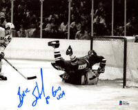 BUZZ SCHNEIDER SIGNED AUTOGRAPHED 8x10 PHOTO OLYMPIC GOLD HOCKEY BECKETT BAS