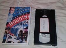 John Calvert Houdini Tribute Vhs - Red Skelton Magic Escapes Oop Lash La Rue