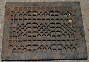 Vintage Register Grate Cover Ornate Cast Iron