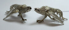 RARE VINTAGE STERLING SILVER 925 HAWKS/ROOSTERS/COCKS FIGHTING STATUES FIGURES