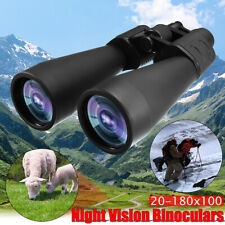 Zoomable 20-180x100 Binoculars Outdoor Hunting Travel Optical Telescope Sightly