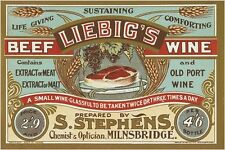 vintage ad poster LIEBIG'S BEEF WINE prepared by S. STEPHENS 24X36 unique
