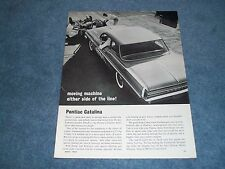 1962 Pontiac Catalina Vintage Drag Car Ad Moving Machine Either Side of the Line