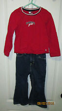 Baby Toddler 3T 4T Tommy Girls Hilfiger Outfit Long Sleeve Shirt Levi Jean Pants