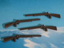 4x RIFLE *NUEVOS HAY80* FUSIL SOLDADOS NORDISTA OESTE PLAYMOBIL ESCOPETA ARMA