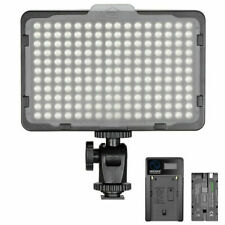 Neewer 176 LED Video Light 5600K on Camera Light Panel with 2600mAh Battery and USB Charger for Panasonic, Canon, Nikon, Pentax