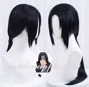 """26""""65cm Naruto Hakuouki Saitou Uchiha Itachi Hajime Black Cosplay Wig"""