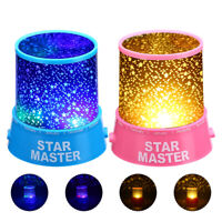 LED Cosmos Star Night Light Sky Master Projector Starry Lamp Romantic Kid Gift