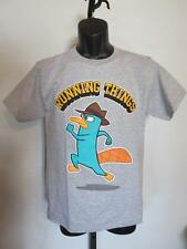 New Disney Phineas and Ferb Running Things Youth Large L (14-16) Gray Shirt