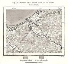 RĪGAS PLĀNS scale 1:10 000 4 sheets set 1937 Vintage office map RIGA