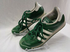 Men's Adidas Samoa Shoes Size 10 Dark Green G22594 Trefoil 3 Stripes White
