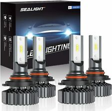 SEALIGHT 9006/HB4 9005/HB3 LED Headlight Bulbs High Low Beam, Combo Package CSP