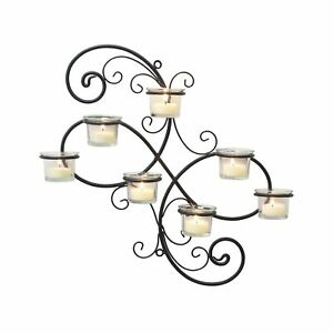 Stonebriar Transitional Scrolled Ivy Tea Light Candle Holder Hanging Wall Sco...
