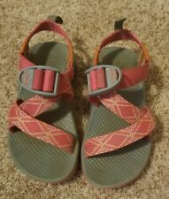 Girls Chaco Sandals Size 11 Z1 Ecotread, Pink Gray