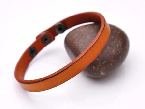 Surfer Fashion Genuine Leather Bracelet Cuff Wristband Single Wrap Men Women