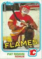 1981-82 Topps Pat Riggin Rookie Calgary Flames #30