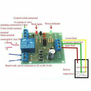 1pc Liquid Water Level Controller Pumping Control Module 9V-12V Sensor O1N4