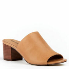 Diana Ferrari Leather Mules Heels for Women