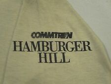 DEADSTOCK vintage 80s HAMBURGER HILL MOVIE PROMO T-Shirt XS/S army vhs thin NOS