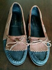 Vintage ENDICOTT JOHNSON Leather Moccasin Slides Loafers Shoes Size 6M Brazil