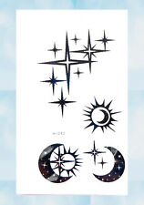 US Seller- transfer tattoos for adults sun moon star temporary tattoo