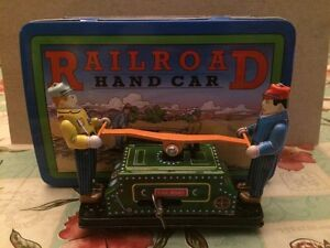 Schylling Railroad Hand Car- Collection Series- Tin Toy- 1999-Free Shipping