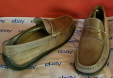 Men's ECCO Buttery Soft Leather Upper Casual Slip On Driving Loafers Shoes Sz 45
